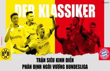 Siêu kinh điển phân đinh ngôi vương Bundesliga