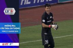 Top 5 pha cứu thua vòng 2 V-League 2020