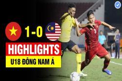 U18 Việt Nam 1-0 U18 Malaysia (U18 Đông Nam Á 2019)