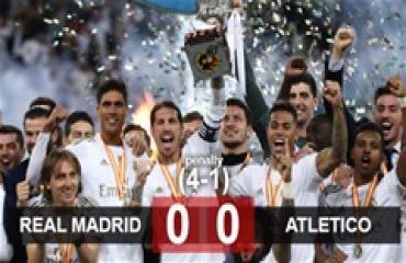 Real 0-0 (pen 4-1) Atletico: Thắng bằng đấu súng, Zidane lại gieo sầu cho Simeone