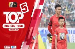 5 pha cứu thua xuất sắc vòng 20 V-League 2019