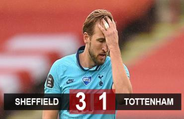 Sheffield Utd 3-1 Tottenham: Thầy trò Mourinho thua tan tác