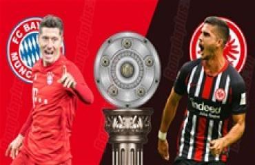 Bayern vs Frankfurt, 23h30 ngày 23/5: Hùm xám đòi nợ