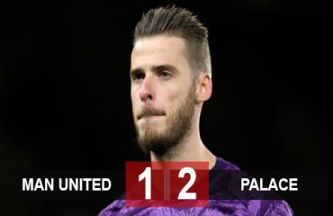 M.U 1-2 Palace: De Gea mắc sai lầm phút cuối, Quỷ đỏ nhận trận thua đầu tiên
