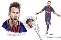 Mẹo vẽ Messi giống như thật từ họa sỹ truyện tranh Paul Trevillion