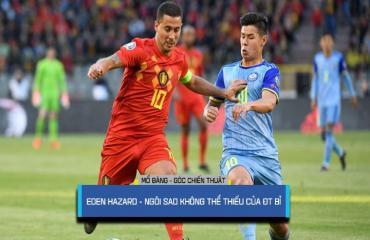 Eden Hazard linh hồn trong lối chơi của Bỉ (Vòng loại Euro 2020)