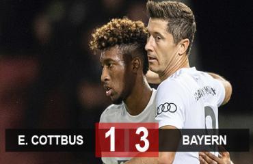 Energie Cottbus 1-3 Bayern: Lewandowski, Coman lập công, Hùm xám diệt gọn Cottbus