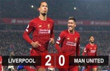 Liverpool 2-0 M.U: Tiến thêm 1 bước tới ngôi vương