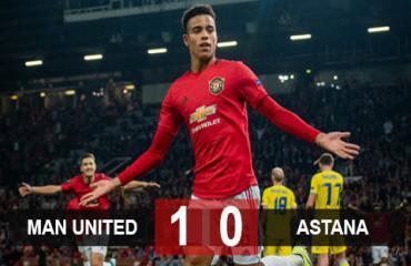 Man United 1-0 Astana: Greenwood ghi bàn duy nhất, Quỷ đỏ thắng nhọc 'tí hon'