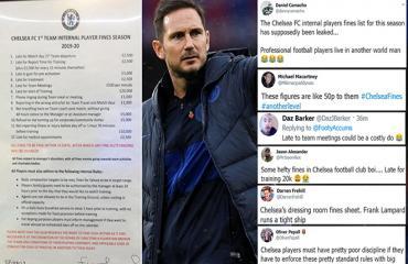 Sốc với quy chế phạt khắt khe Lampard áp dụng tại Chelsea