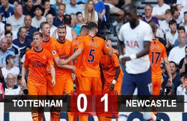 Tottenham 0-1 Newcastle: Spurs thua đau trong ngày trọng đại của HLV Pochettino