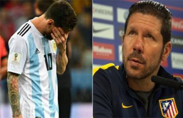 Simeone ủng hộ hành động của Messi tại Copa America