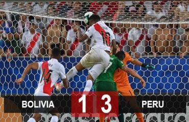 Bolivia 1-3 Peru: Thắng ngược Bolivia, Peru soán ngôi đầu bảng A của Brazil