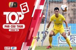 Top 5 pha cứu thua xuất sắc vòng 24 V-League 2019