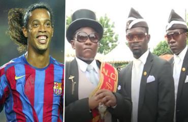 Nhóm vũ công khiêng quan tài muốn đưa Ronaldinho đến nơi an nghỉ cuối cùng