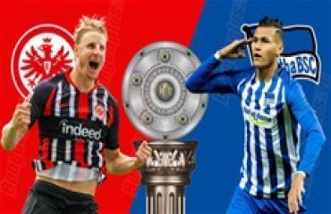 Frankfurt vs Hertha, 2h30, ngày 7/12: Khách ra về trắng tay
