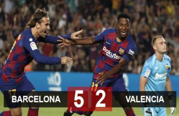 Barca 5-2 Valencia: Thần đồng Fati rực sáng, Nou Camp mở đại tiệc