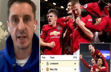 Gary Neville: 'MU có thể cạnh tranh chức vô địch với Liverpool mùa sau'