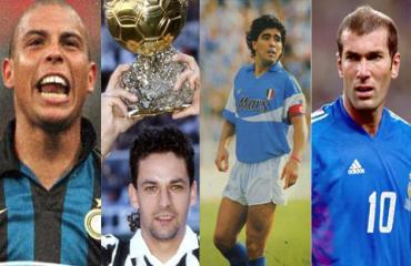 Top 25 cầu thủ hay nhất thập niên 1990: Maradona, Zidane, Ronaldo, Baggio và ai?
