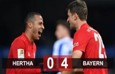 Hertha 0-4 Bayern: Đại thắng trận đầu tiên của năm 2020, Bayern leo lên ngôi nhì Bundesliga