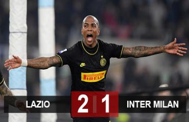 Lazio 2-1 Inter Milan: Young khai hỏa, Inter vẫn thua ngược