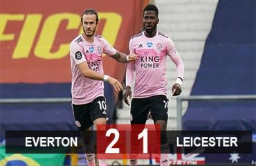 Everton 2-1 Leicester: