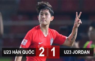 U23 Hàn Quốc 2-1 U23 Jordan: Vào bán kết nhờ siêu phẩm đá phạt