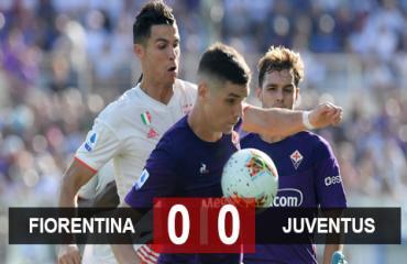 Fiorentina 0-0 Juventus: Ronaldo bất lực trước đội bóng của Ribery