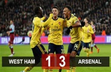 West Ham 1-3 Arsenal: Ngược dòng trong 10 phút, Pháo thủ cắt mạch 9 trận không thắng