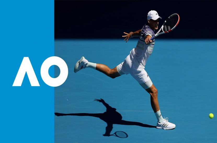 Dominic Thiem 3-0 Adrian Mannarino (Vòng 1 Australia Open 2020)