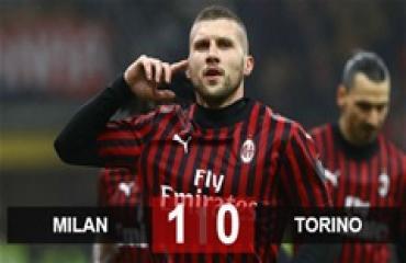 Milan 1-0 Torino: Ibrahimovic làm nền cho Rebic, Milan tìm lại niềm vui chiến thắng