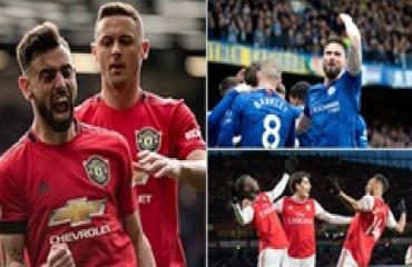 Tổng hợp vòng 27 Ngoại hạng Anh: M.U, Chelsea, Arsenal làm nóng cuộc đua top 4