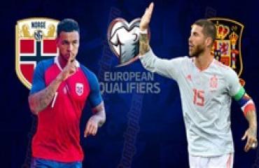 Na Uy vs Tây Ban Nha, 01h45 ngày 13/10: Nối dài mạch thắng