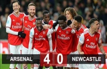 Arsenal 4-0 Newcastle: Pepe 'lên đồng', Pháo thủ cắt mạch 4 trận hòa