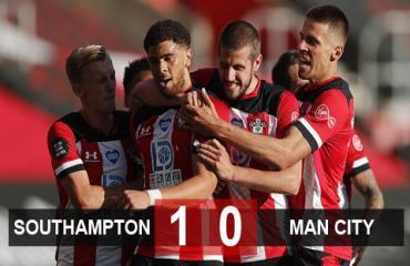 Southampton 1-0 Man City: Chủ nhà chính thức trụ hạng