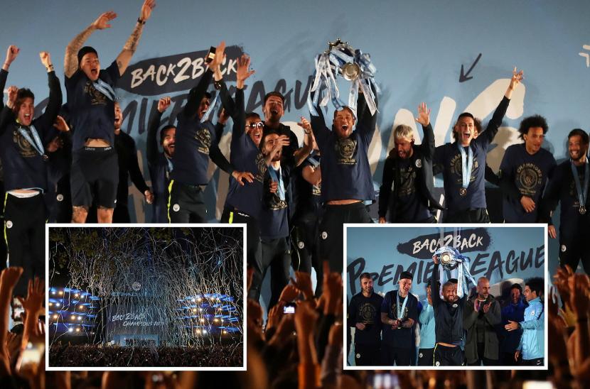 Màn ăn mừng chức vô địch Ngoại hạng Anh của Man City tại sân Etihad (Ngoại hạng Anh 2018/19)