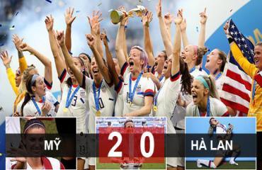 Mỹ 2-0 Hà Lan: Mỹ bảo vệ thành công ngôi Hậu