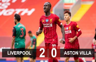 Liverpool 2-0 Aston Villa: Liverpool thắng trận đầu tiên trên tư cách nhà vô địch