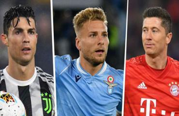 Chiếc giày vàng châu Âu: Immobile và Lewandowski bứt phá khi Ronaldo vắng mặt