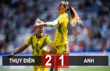 Thụy Điển 2-1 Anh: Nữ Thụy Điển giành huy chương đồng World Cup nữ