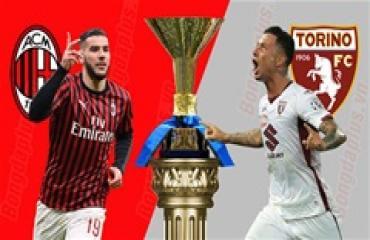 Milan vs Torino, 02h45 ngày 18/2: Milan hết sợ… Torino