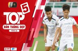 Top 5 bàn thắng đẹp vòng 26 V-League 2019