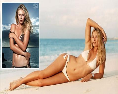 Sharapova: 19 tuổi đã 'dạt dột' lột áo khoe thân
