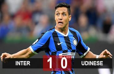 Inter 1-0 Udinese: Sanchez ra mắt, Inter nối dài mạch thắng ở Serie A