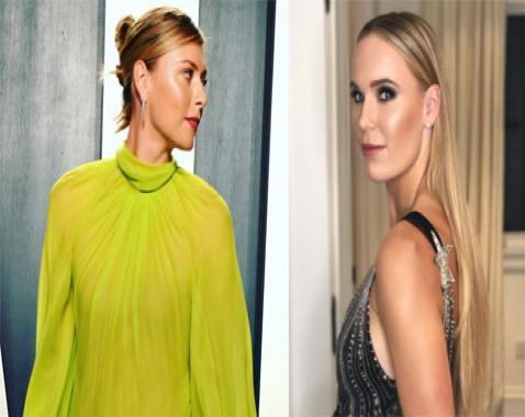 Sharapova bị bạn trai chụp lén, Wozniacki diện váy xẻ sâu tận rốn ở dạ tiệc Oscar 2020