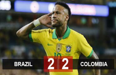 Brazil 2-2 Colombia: Neymar ghi bàn, Brazil vẫn bị cầm hòa đáng tiếc