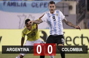 Colombia 0-0 Argentina: Hòa nhạt ngày vắng sao