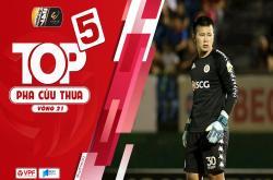 Top 5 pha cứu thua xuất sắc vòng 21 V-League 2019