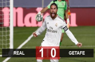 Real 1-0 Getafe: Tiến gần hơn tới ngôi vương