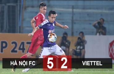 Hà Nội 5-2 Viettel: Hà Nội tiến gần ngôi vô địch V.League